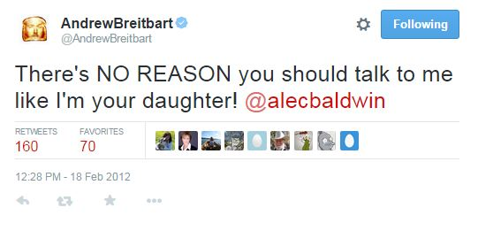 021812 Breitbart Dont talk to me like your daughter - alec baldwin