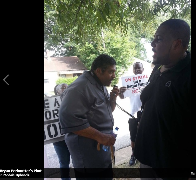 NC Vote Defenders - Bryan Perlmutter - FB -Occupy2pt0 fast food strike - BARBER NAACP 082913