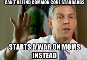 ArneDuncan war on moms meme