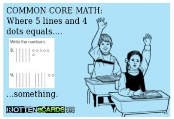 Dots and sticks math ecard