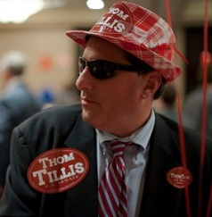 CHARLOTTE, NC - NOVEMBER 4: Dallas Woodhouse attends U.S. Rep. Thom Tillis's watch party at The Omni Hotel Ballroom on November 4, 2014, in Charlotte, North Carolina. Rep. Thom Tillis (R-NC) is running in a tight race for the North Carolina Senate seat against opponent U.S. Sen. Kay Hagan (D-NC). (Photo by Davis Turner/Getty Images)