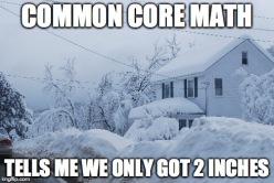 Common Core Snow Math