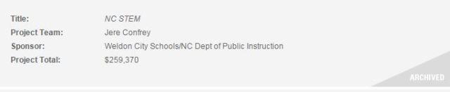 NCSU Grants - Archived STEM- Jere Confrey
