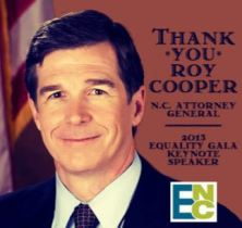 Roy Cooper Equality NC