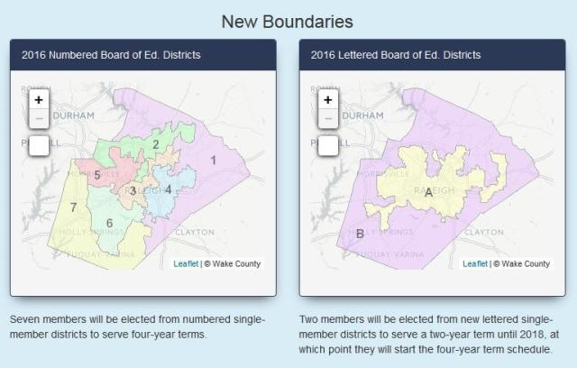 New Wake Cty Board Maps