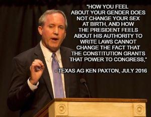 TX AG Ken Paxton Bathroom Biology