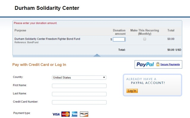 Bail Fund - DSC PayPal