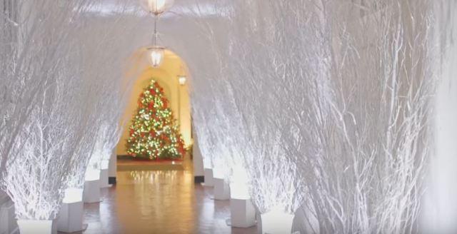 White House Christmas 2017 hallway - Youtube