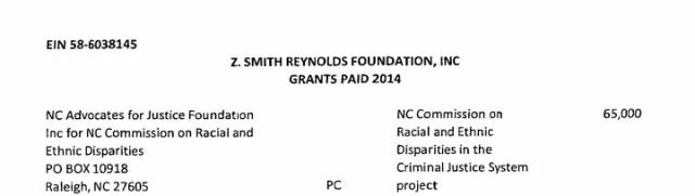 Z. Smith Reynolds Grant - 65k to NC CRED