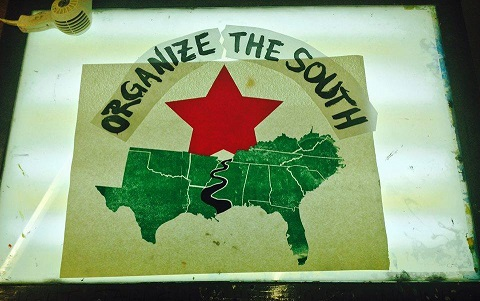 051915 FB Organize the South Screen Print $20 sm
