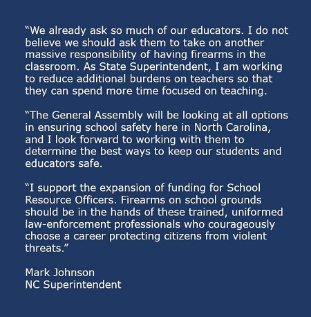 Johnson Statement Small - arming teachers 2a