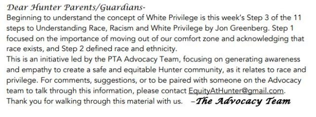 Dear Hunter Parents - SJW - White privilege