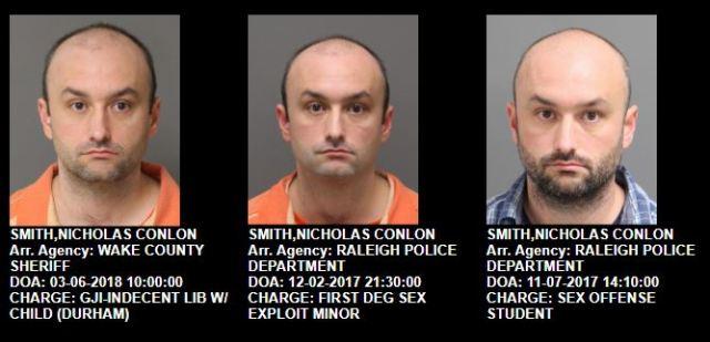 Nicholas Conlon Smith - 3 arrests