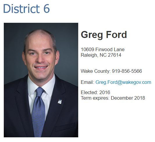 Greg Ford WBOC Page - Wake County