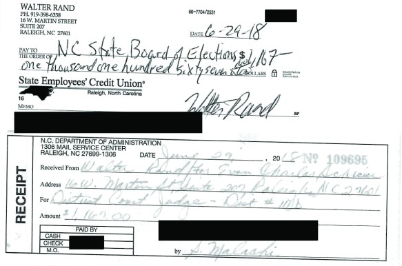 Walter Rand Check - DIstrict Court 10D