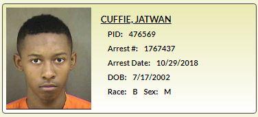 Jatwan Craig Cuffie Arrest Info - CMS