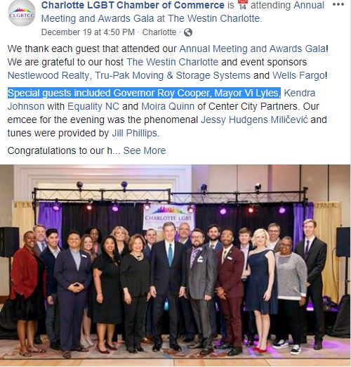 CLT Chamber of Commerce Facebook - Meeting and Gala List of Attendees 2018