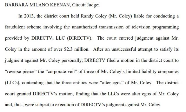 Circuit Judge Coley ruling 2013