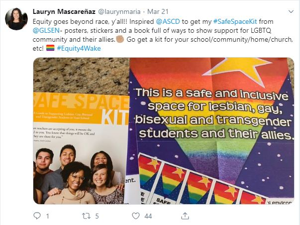2019-03-21 Mascarenaz - GLSEN Safe spaces kit - Office of Diversity Affairs - WCPSS