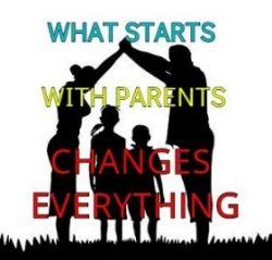 What starts with parents