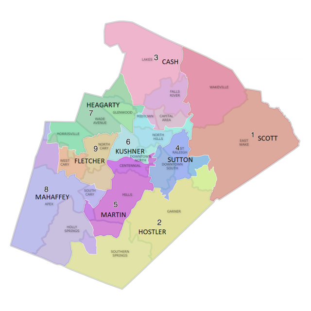 WCPSS 2020 Districts