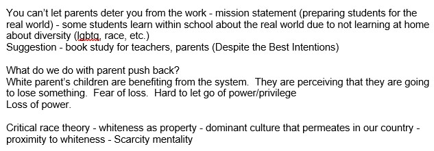 2020-09-05 Whiteness in Ed Spaces Excerpt - Shutting parents down WCPSS OEA Edcamp Equity