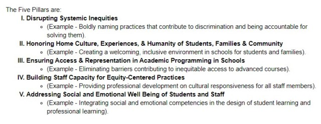Durham Public Schools, Equity Policy, Five Pillars, Critical Race Theory